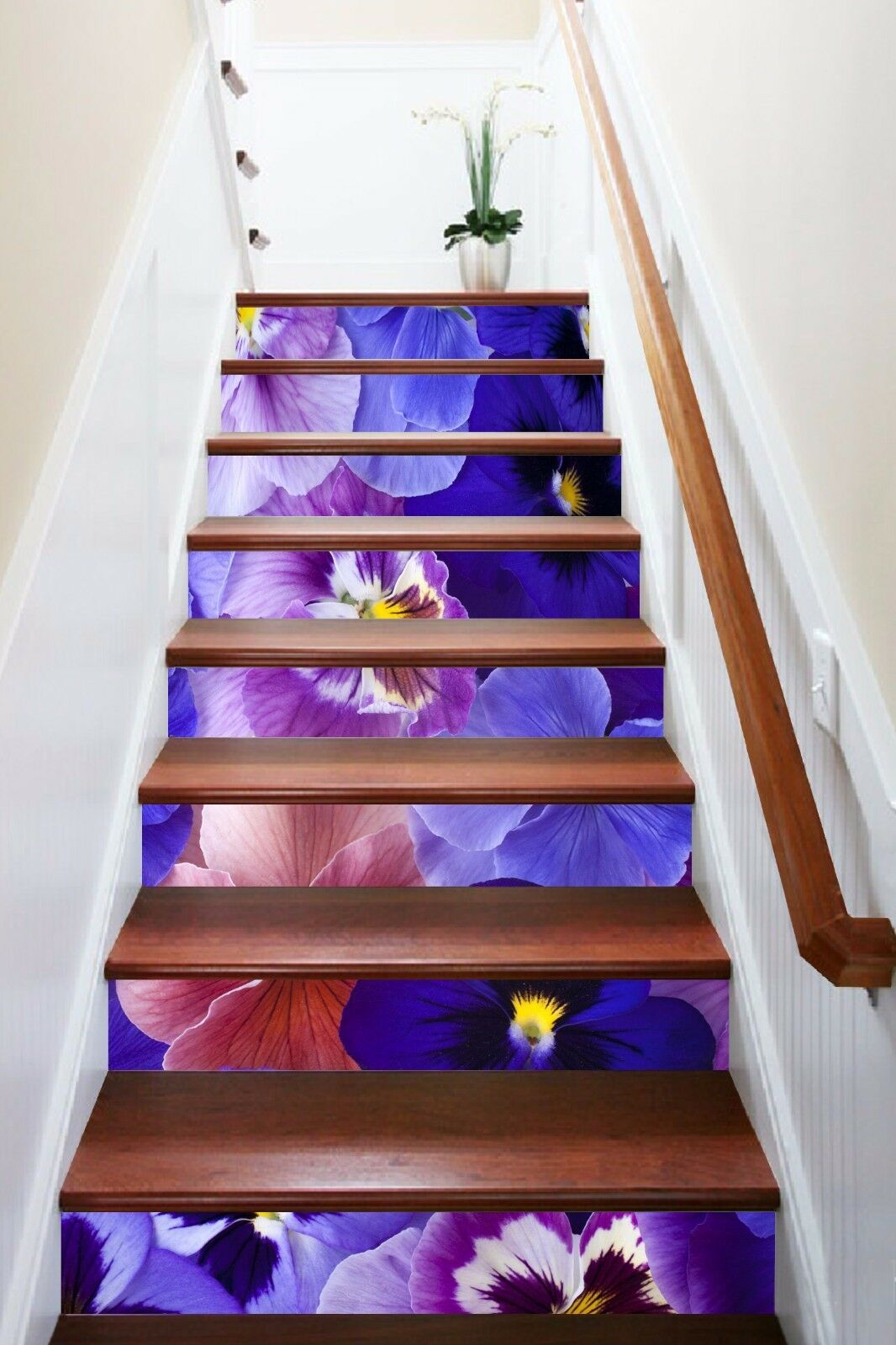 3D Pretty Flowers 9 Stair Risers Decoration Photo Mural Vinyl Decal Wallpaper AU