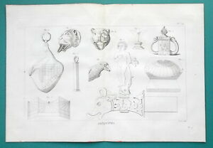 ROMAN-ANTIQUITIES-Wine-Stoppers-Reserved-1804-Copperplate-Print