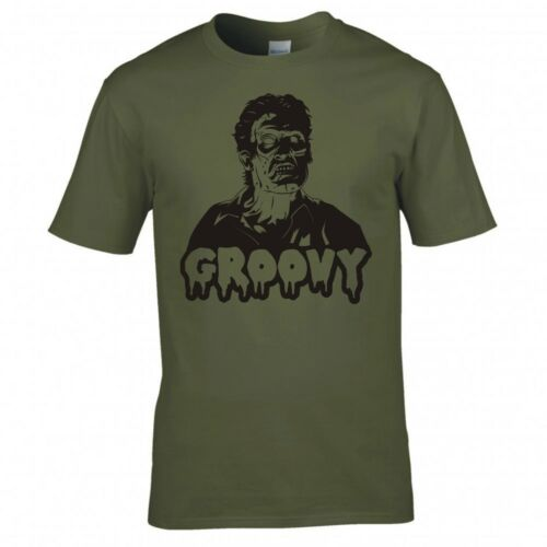 """INSPIRED BY EVIL DEAD 2 /""""GROOVY/"""" T-SHIRT"""