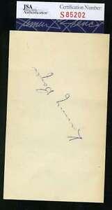 Ken-Boyer-Rookie-Jsa-Coa-Autograph-3x5-Index-Card-Hand-Signed-Authentic