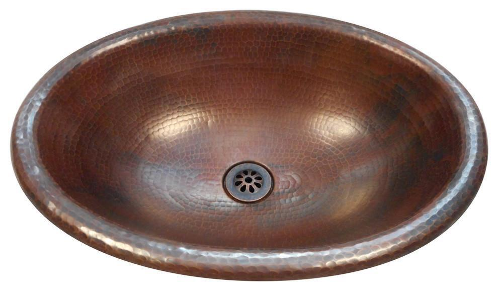 Simplycopper 19 X 14 Oval Copper, Oval Copper Bathroom Sink