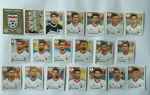 Panini-coupe-du-monde-2018-Iran-equipe-COMPLETE-SET-WORLD-CUP-WC-18