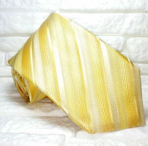 Alerte Top Class Cravatta Regimental Oro Top Quality 100% Seta Made In Italy