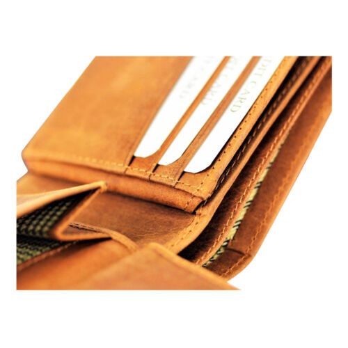 Mens Luxury 100/% Genuine Quality Leather Wallet Credit Card Holder Purse TAN