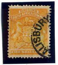 SOUTH AFRICA BSA COMPANY 1890-91 YT 6, 5 S. VERY FINE U