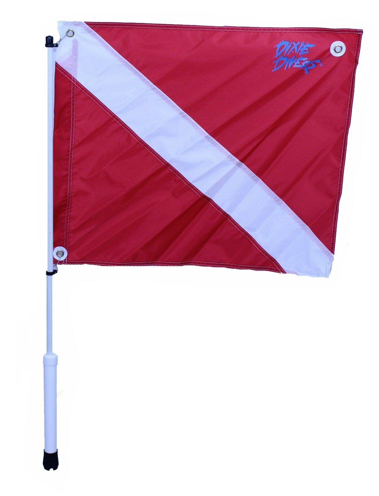 Dixie Divers Flag Pole & Dive Flag COMBO for  Rod Holders SCUBA Diving Snorkeling  save up to 30-50% off