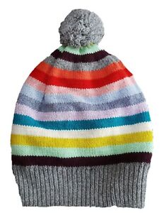 ZARA Boy Knitted GREY MUSTARD Stars /& Stripes Winter Beanie Hat UK S M L