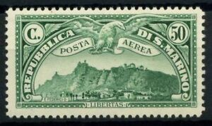 San-Marino-1931-Sass-1-MNH-100-Air-Mail-View