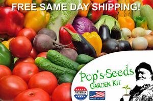 Semences-de-Legumes-12-Kit-variete-Heirloom-non-OGM-potager-Graines-Gratuit-navire