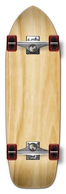 Yocaher Old School Blank Longboard Complete - Natural