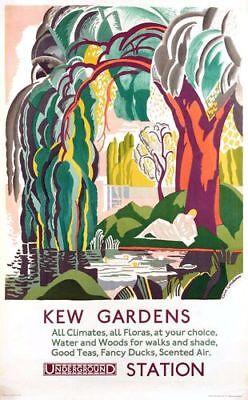 Vintage Kew Gardens All Climates Poster A4//A3//A2//A1 Print