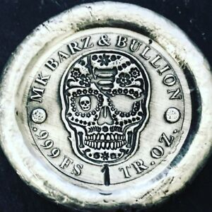 "1 Troy Oz  .999 Fine Silver MK BarZ Stamped  /""Illuminati/"" Round"