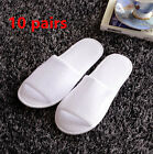 10pair/lot White Breathable Disposable Slippers Hotel Slippers SPA Slippers