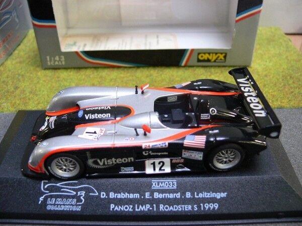1 43 Onyx xlm033 PANOZ lmp-1 Roadster S Brabham BERNARD leitzi. 24 H TU Mans'99
