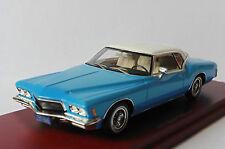 BUICK RIVIERA 1971 STRATOMIST BLUE TRUESCALE TSM114333 1/43 TRUE SCALE BLAU BLEU