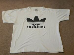 0d882a135 vintage adidas trefoil logo t shirt mens large made in usa white ...