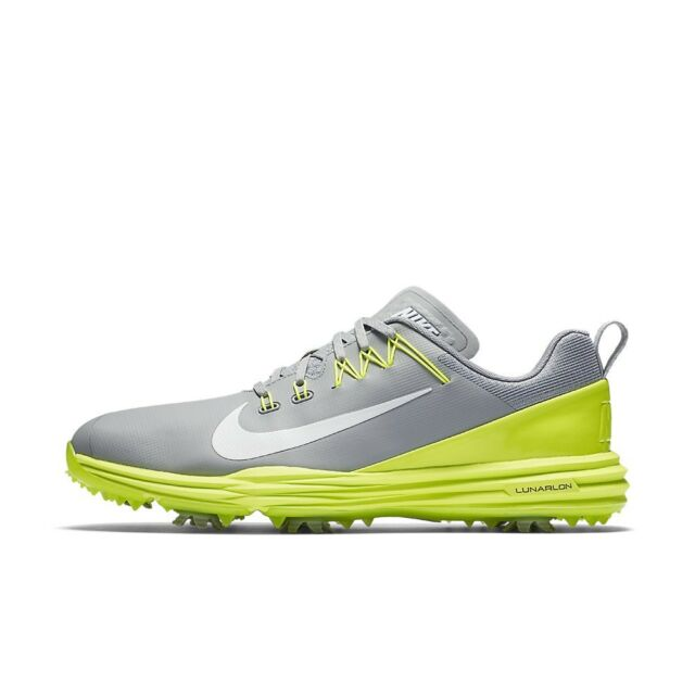 ee0f0f8f4cf Nike Golf Lunar Command 2 Men Shoes Grey White Volt 849968-003 Multiple  Sizes
