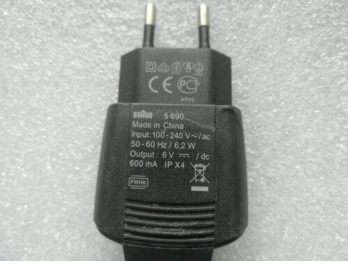 1PC Braun 5690 European Type Electric Shaver AC Power Cord  NEW