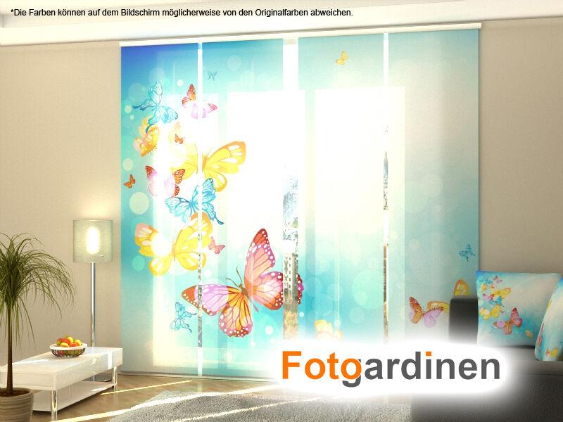 Foto tendine farfalle, scorrevoli sipario tendine scorrevoli 3d stampa fotografica, su misura