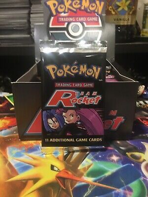 Pokemon Team Rocket Booster Pack..Freshly Opened Carton UNWEIGHED! One Pack..