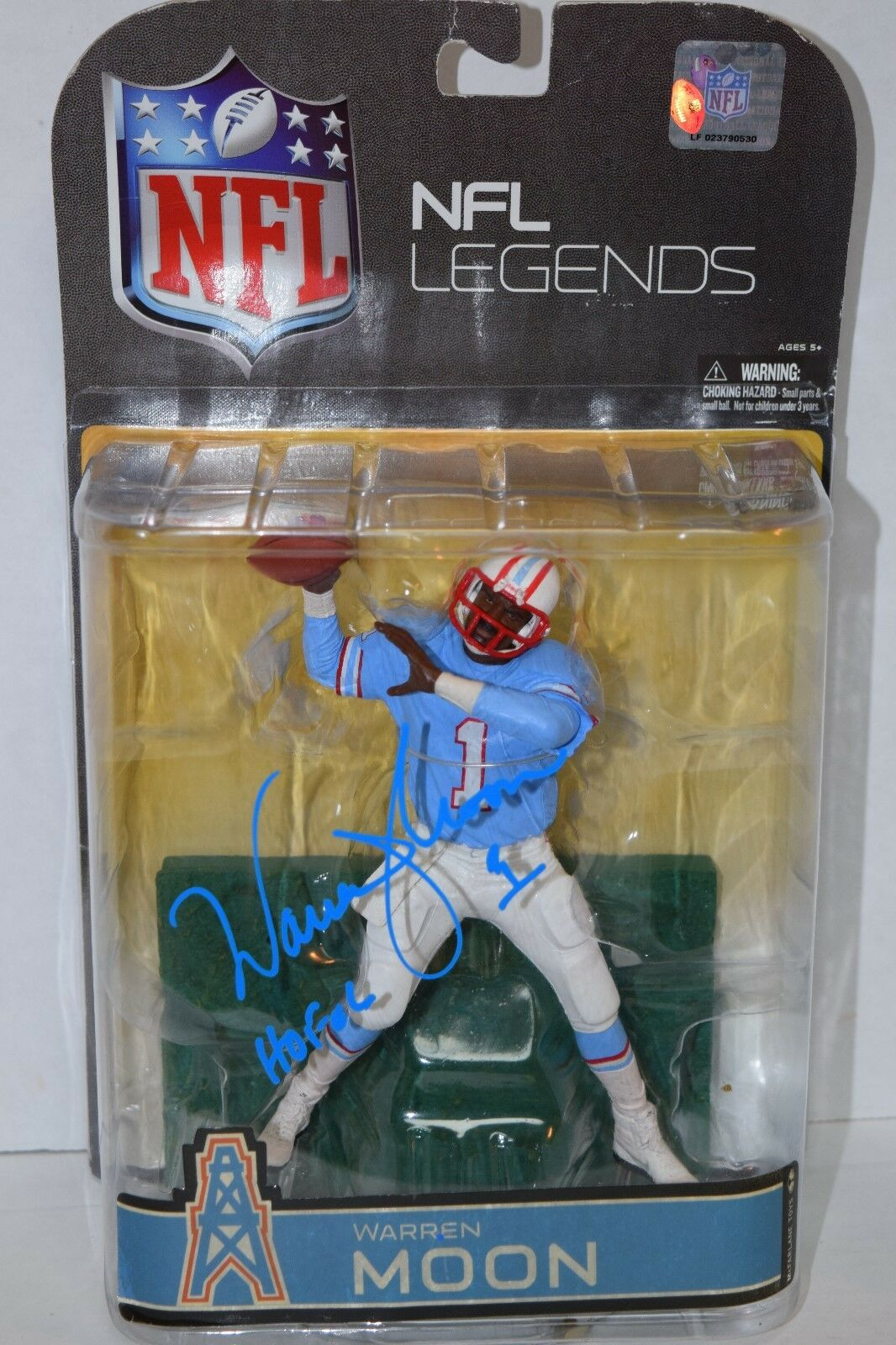 Mcfarlane bilgraferade Warren Moon Legends jagar NFL Houston Oilers.