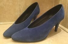 Ladies Women's Size 7 Cobalt Blue Amari High Heel Shoe 8cm Heel