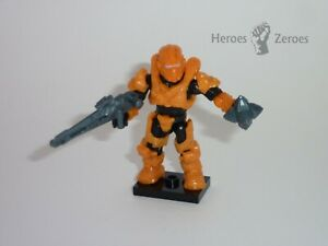 Halo Mega Bloks Set #CND00 UNSC Spartan Aviator Figure with Light Rifle Grenade