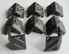 8x Small Plastic Guitar Amplifier Protector Corner Speaker Cabinet Corners Black