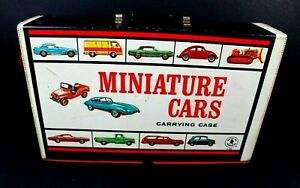 1966-Mattel-Miniature-Cars-Carrying-Case-with-2-Trays-Hotwheels
