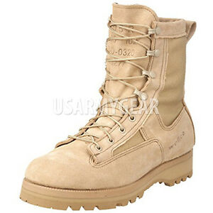 NEW US MADE MILITARY GORETEX DESERT TAN ICB COMBAT ARMY BOOTS TEMPERATE WEATHER