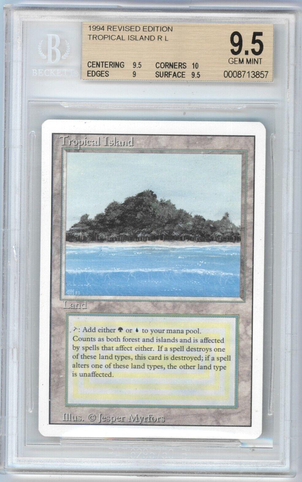 Tropical Islands - Revised - BGS 9.5 - mtg Magic
