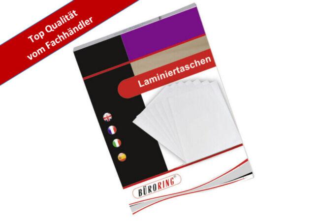 Laminierfolien  DIN A6 80 Mic für Foto 10x15 100er Pack glänzend kopfverleimt