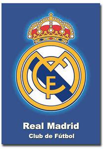 Real madrid club de ftbol logo poster fridge magnet size 25 x 35 image is loading real madrid club de futbol logo poster fridge voltagebd Choice Image