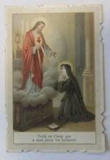 canivet santino holy card  immaginetta sacra - Gesù Cristo / Margherita Alacoque