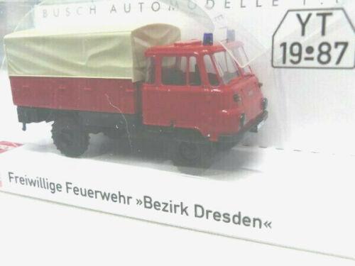1//87 busch robur lo 2002 a bomberos distrito Dresden lona 50299