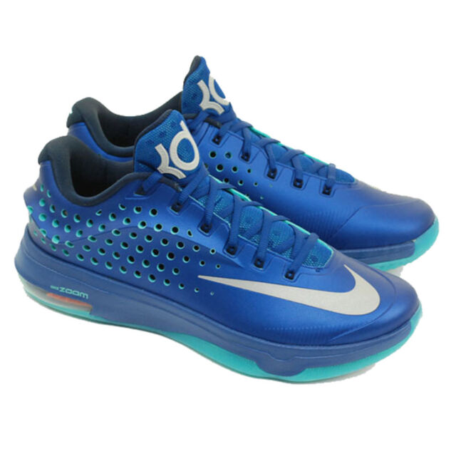 89df5b916a69 Nike KD VII Elite 724349 404 Gym Blue Light Retro Obsidian Metallic Silver