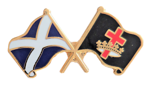 Scotland and Knights Templar Crown /& Cross Masonic Friendship Pin Badge