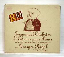 GEORGES RABOL, SYLVIE DUGAS - CHABRIER works for piano NAXOS 3xCDs NM
