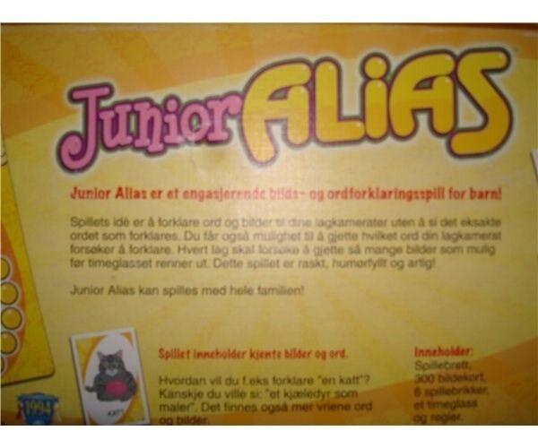 Alias Junior, Børne - Familie spil, brætspil