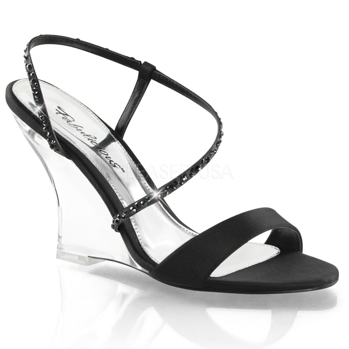 Fabulicious LOVELY-417 Strap Sandal 4 4 4  Heel a99326