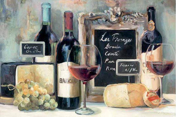 Marilyn Hageman  Les Fromages Keilrahmen-Bild Leinwand Wein Käse Küche Deko