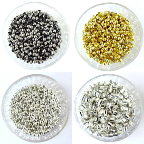 Round Crimp Beads Silver Plated Gold Plated Black Plated 3mm 4mm Findings