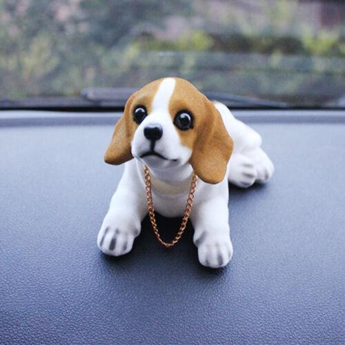 Resin Shaking Head Dog Doll Car Ornament Cute Car Interior Home Office Decor