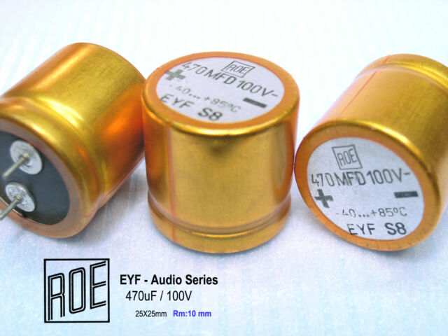 100uF 16V  ROE EK Series Hi-End Audio Grade Capacitors long leads x 50 PIECES