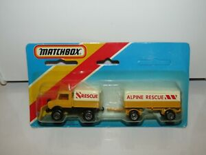 Matchbox-Superfast-TP-112-Unimog-amp-Mercedes-Trailer-MIB-SEALED-Macau-Issue