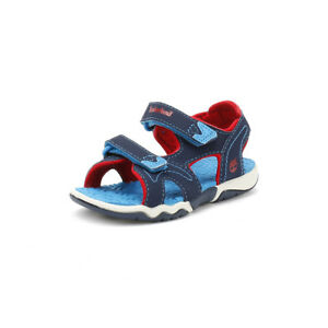 301889743 Image is loading Timberland-Toddlers-Sandals-Navy-Blue-Red-Adventure-Seeker-