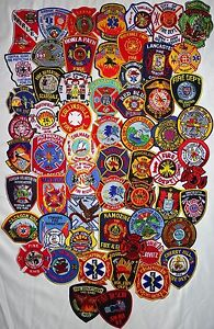 61-pieces-mixed-USA-Fire-Departments-Firefighter-patches-NEW
