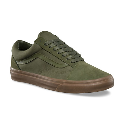 new product skate shoes official supplier VANS OLD SKOOL (SUEDE/CANVAS) WINTER MOSS GREEN GUM SKATE SHOES ...