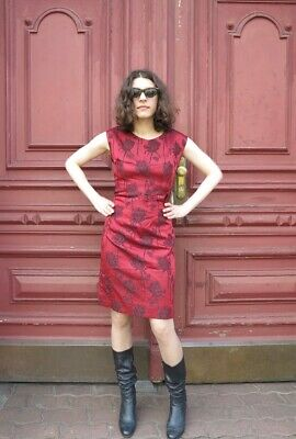 Cerca Voli Donna Abito Miniabito Rose Rosso Rockabilly 60er True Vintage 60s Dress Roses Red-mostra Il Titolo Originale