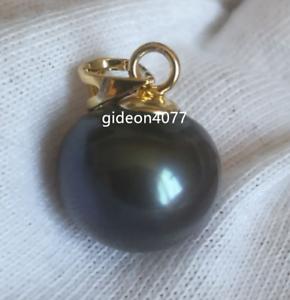 stunning-AAA-10-11mm-Tahitian-Black-pearl-pendant-14K-gold-pendant